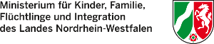Logo des Ministeriums für Kinder, Familie, Flüchtlinge und Integration des Landes Nordrhein-Westfalen