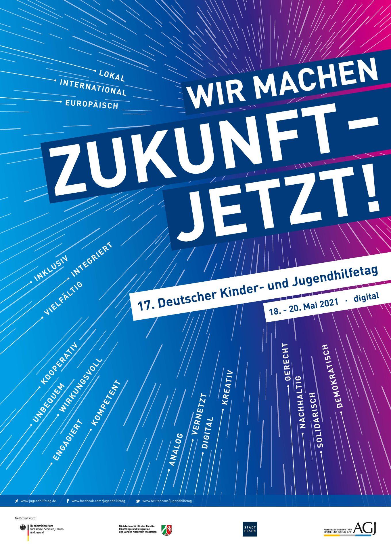 Plakat: WIr machen Zukunft - jetzt! 17. DJHT